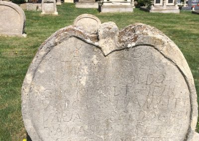 Heart-shaped tombstones in Balatonudvari