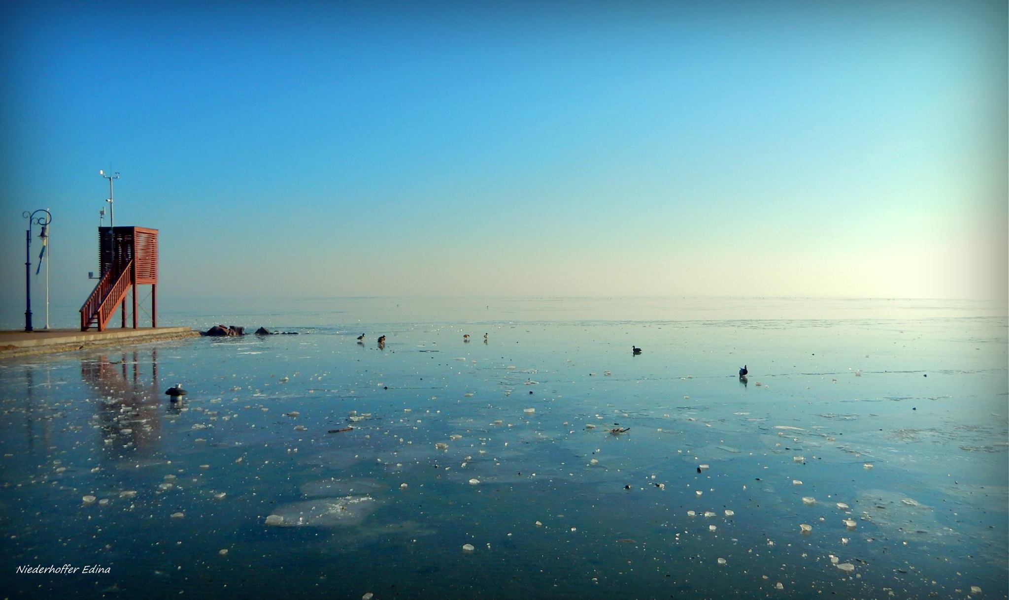 Lake Balaton in wintertime.