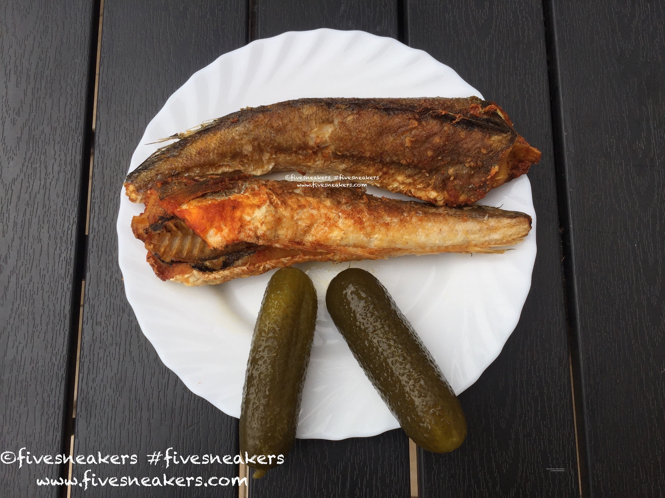 Another typical Hungarian beach food: fried fish (most often hekk).