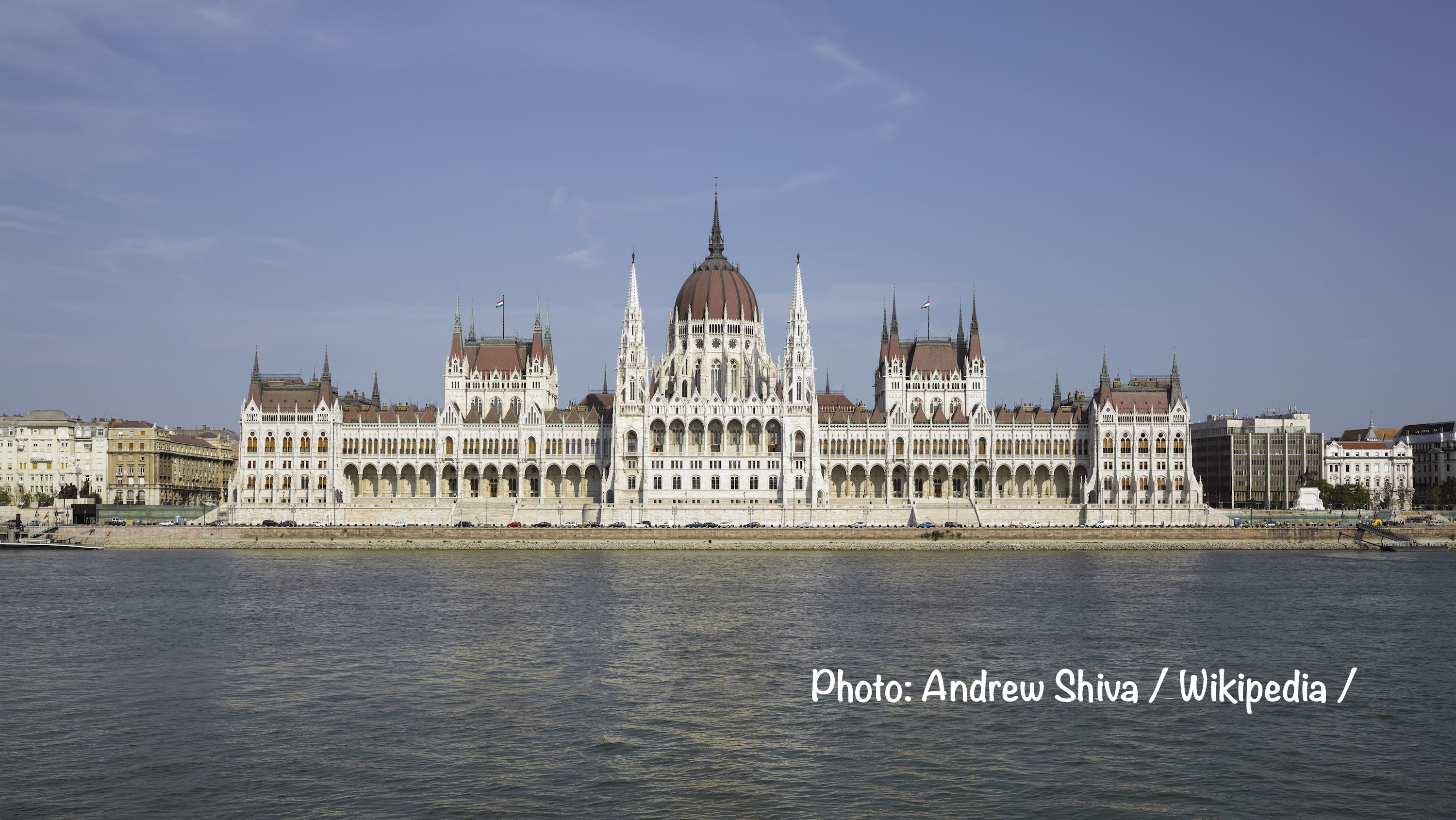National Holiday of Hungary, the building of the Hungarian Parliament.