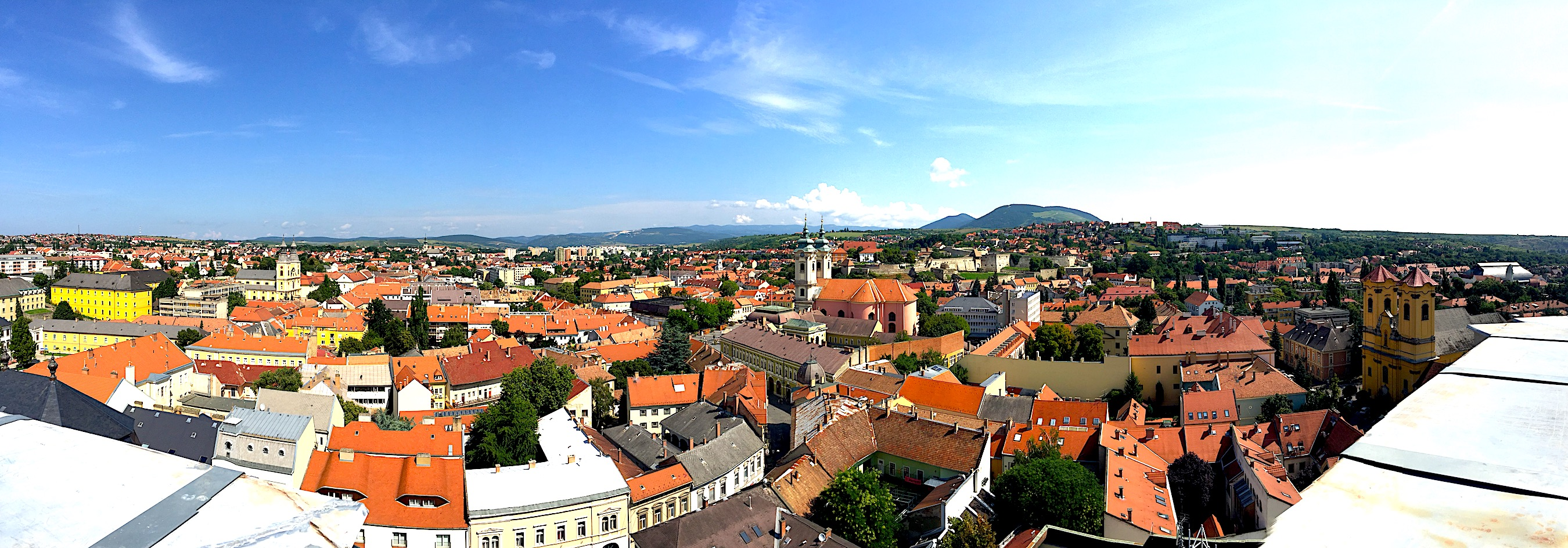 View of the city of Eger.