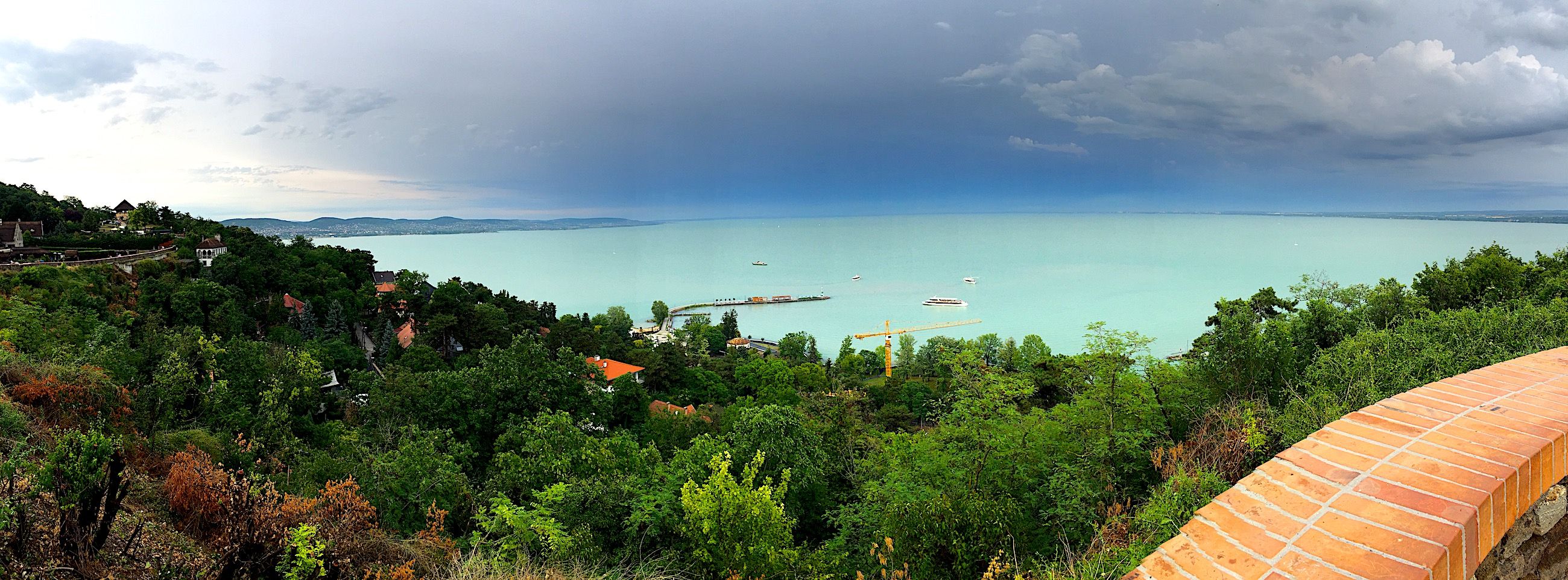 Echo in Tihany - the panoramic view.