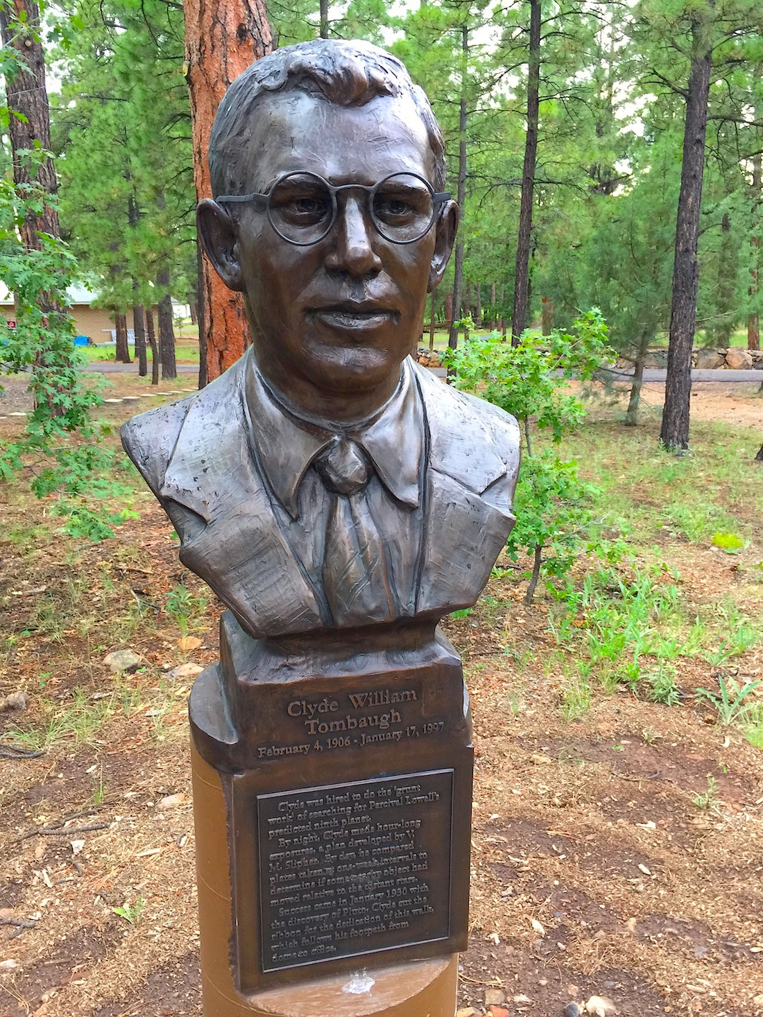 Pluto's discoverer, Clyde Tombaugh.