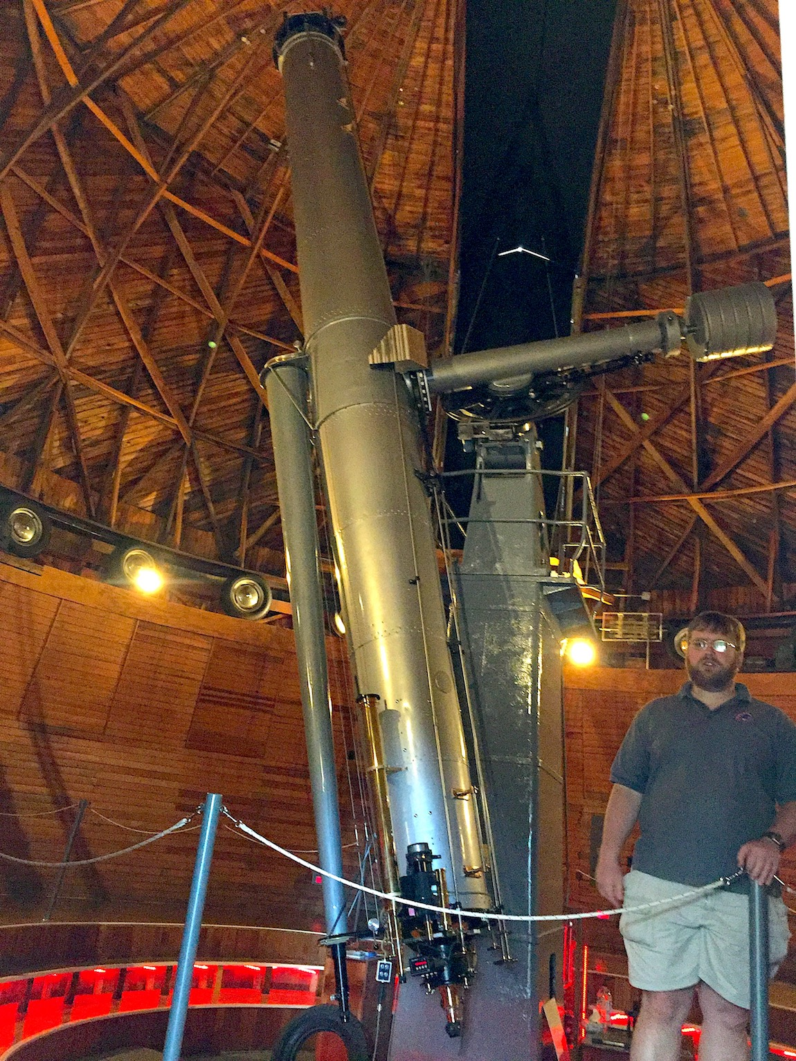 The Alvan Clark telescope at the Lowell Observatory.