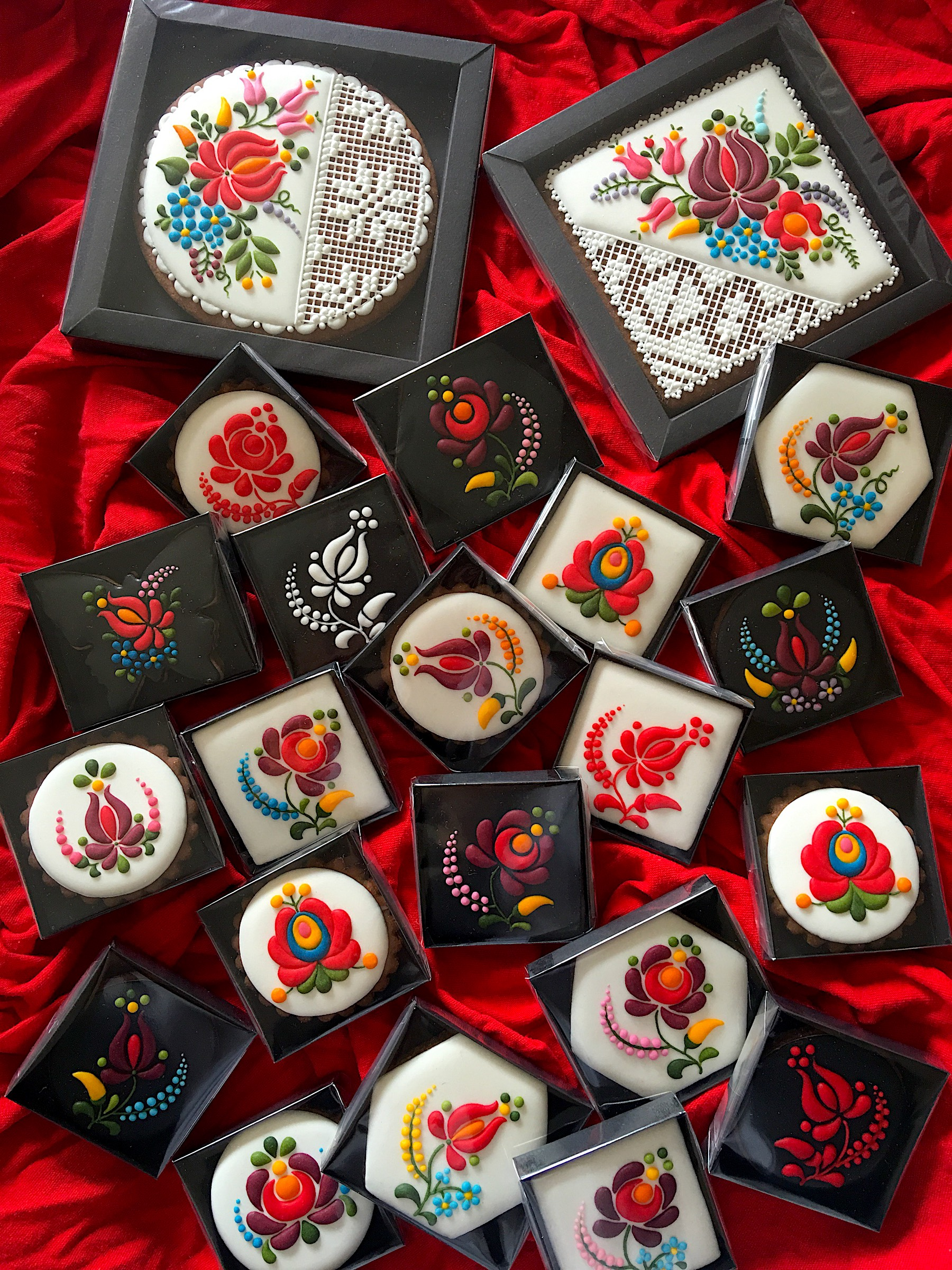 Hand-made artistic gingerbread with Hungarian motives
